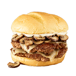 Double Truffle Mushroom Swiss Turkey Burger